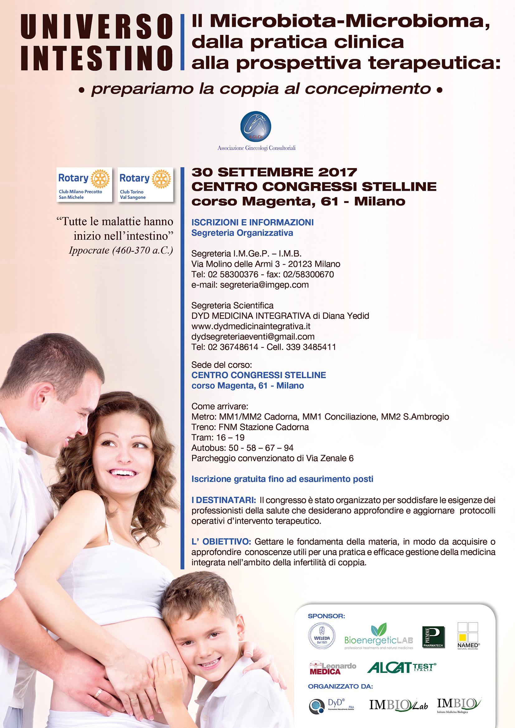 Congresso 30 Settembre Milano UNIVERSO INTESTINO