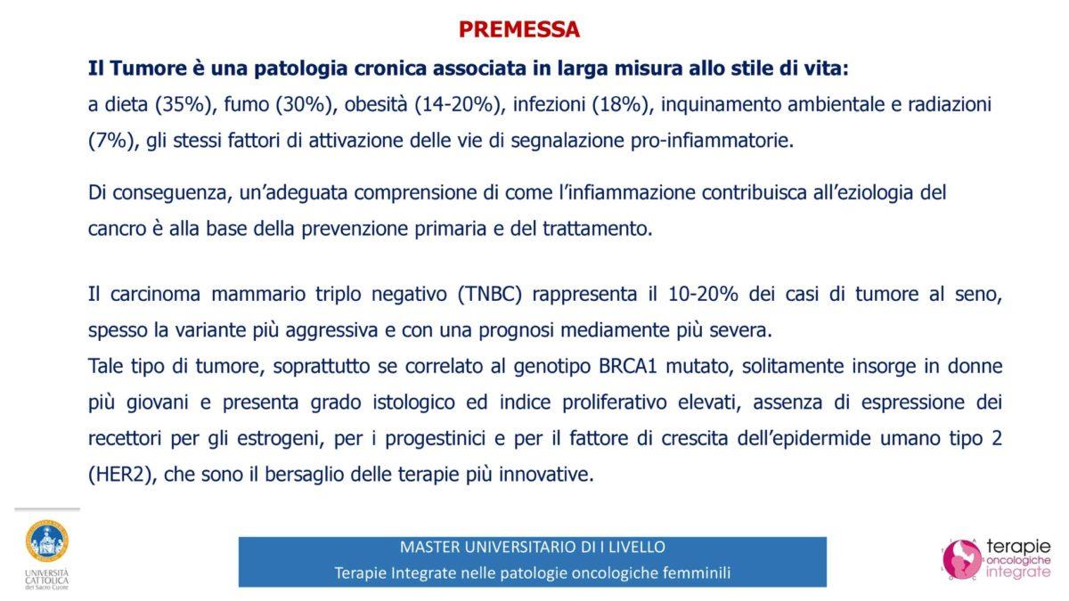 Terapie Integrate nella Patologia Oncologiche femminile